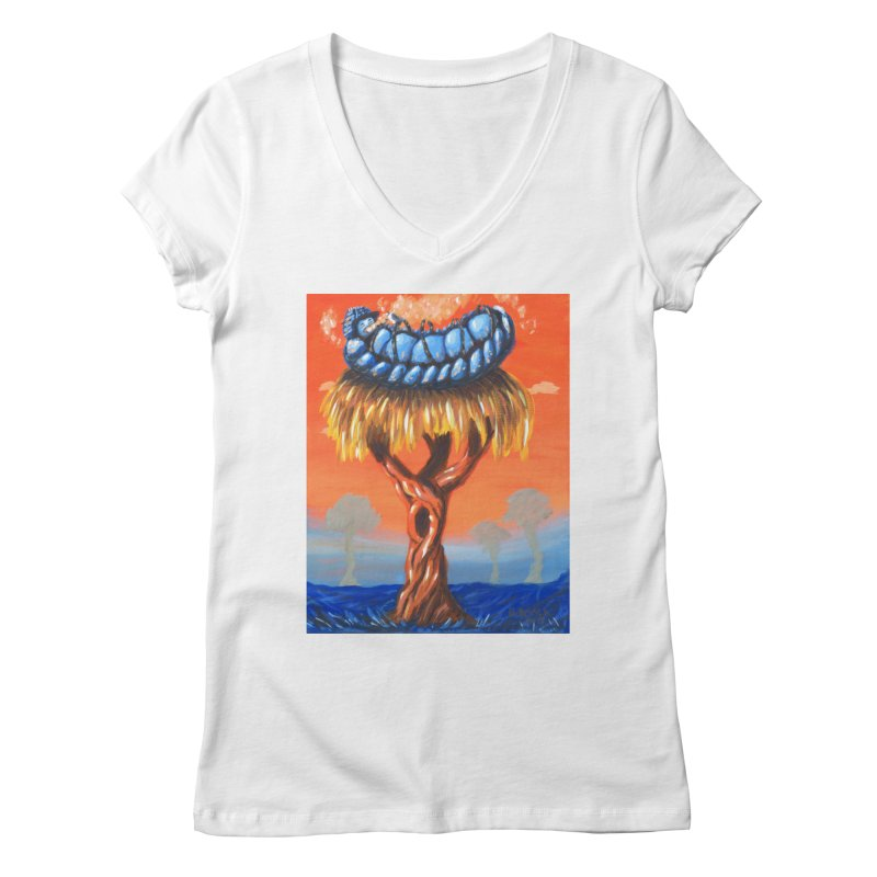 Mr. Caterpillar Women's Regular V-Neck by Baked Goods