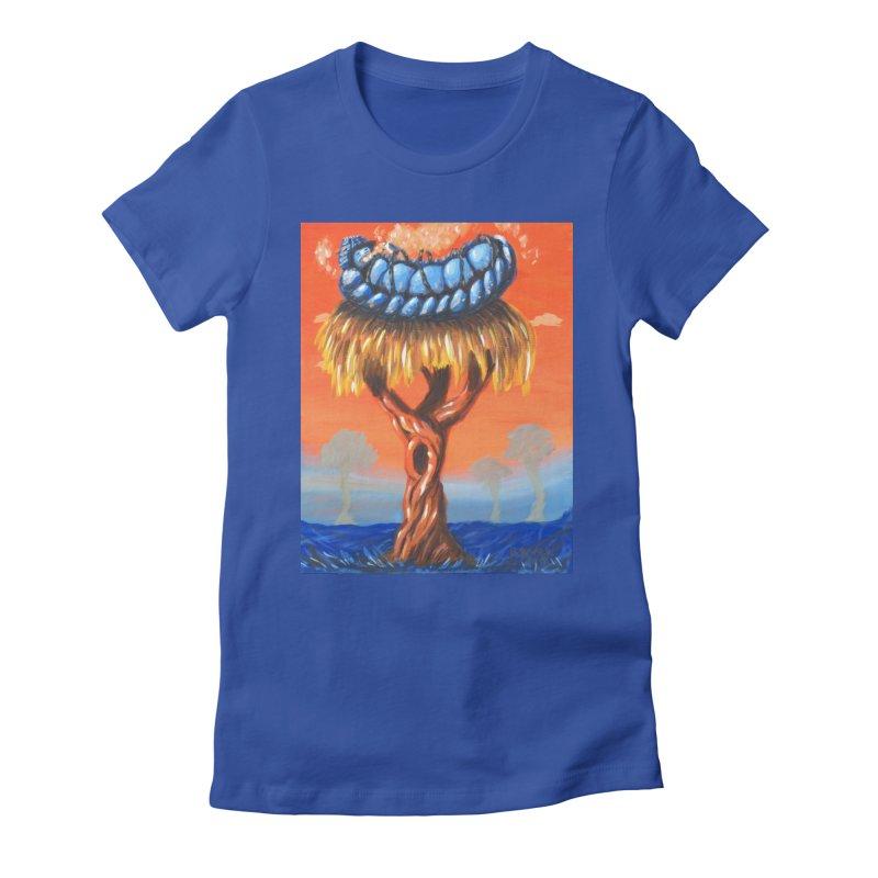 Mr. Caterpillar Women's Fitted T-Shirt by Baked Goods