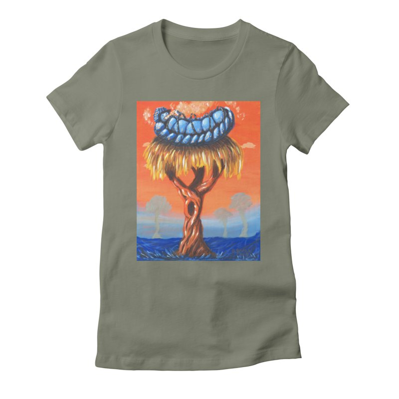 Mr. Caterpillar Women's Fitted T-Shirt by Baked Goods