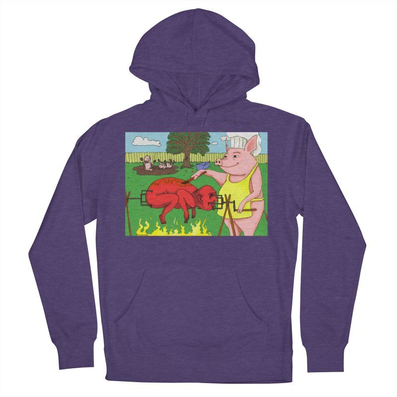Pig Roast Women's French Terry Pullover Hoody by Baked Goods