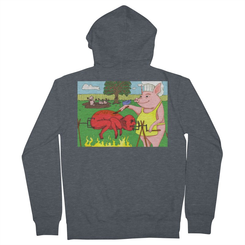 Pig Roast Men's Zip-Up Hoody by Baked Goods