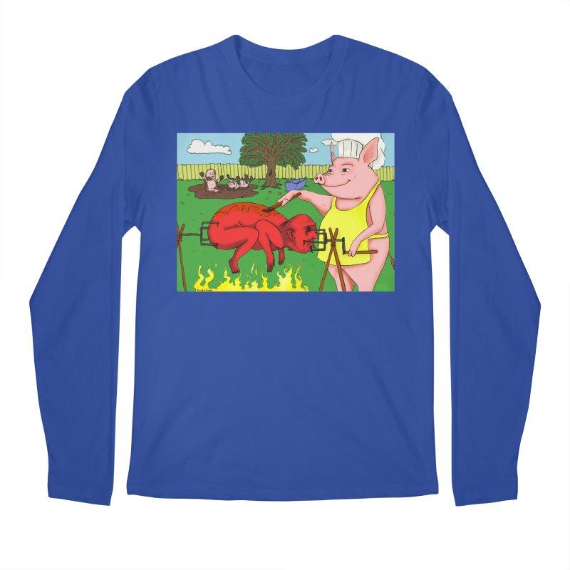 Pig Roast Men's Regular Longsleeve T-Shirt by Baked Goods