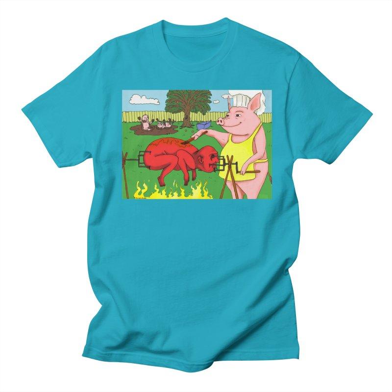 Pig Roast Men's T-shirt by Brandon's Artist Shop