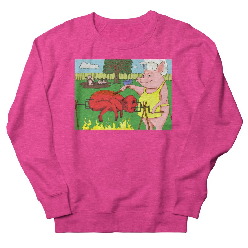 Pig Roast Women's French Terry Sweatshirt by Baked Goods
