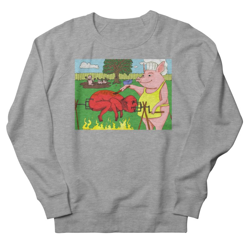 Pig Roast Men's French Terry Sweatshirt by Baked Goods