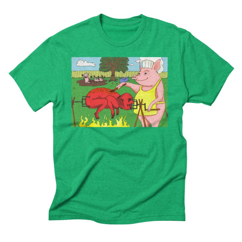Pig Roast Men's Triblend T-Shirt by Baked Goods