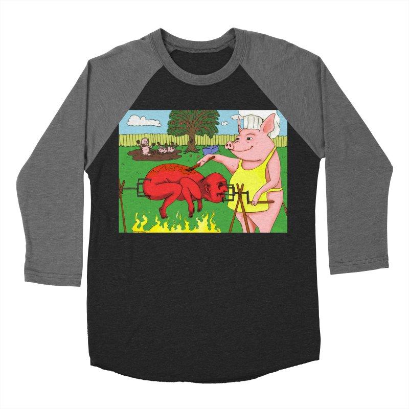 Pig Roast Women's Baseball Triblend T-Shirt by Baked Goods
