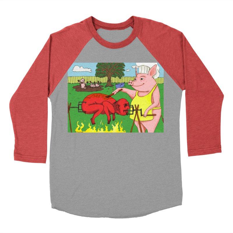 Pig Roast Men's Baseball Triblend T-Shirt by Baked Goods