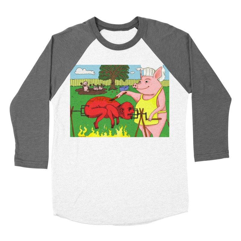 Pig Roast Men's Baseball Triblend T-Shirt by Brandon's Artist Shop