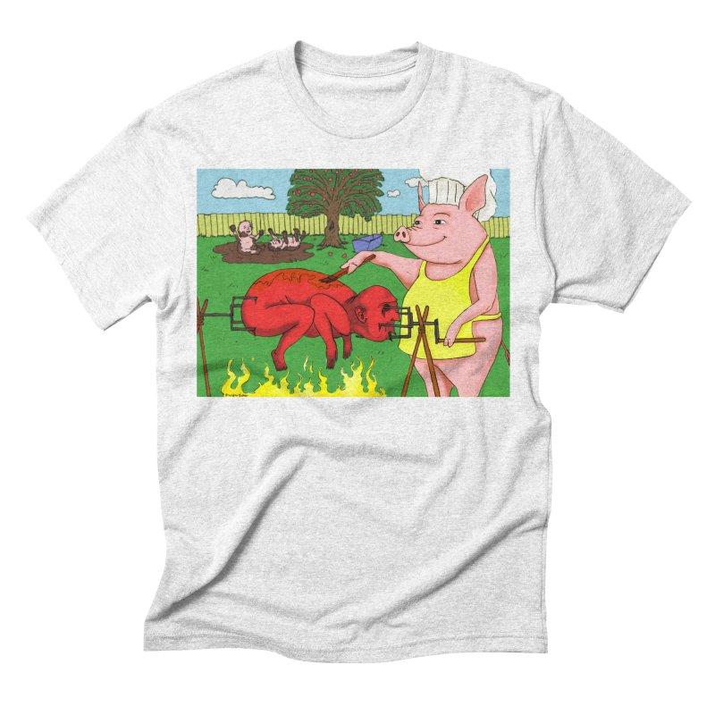 Pig Roast Men's Triblend T-shirt by Brandon's Artist Shop