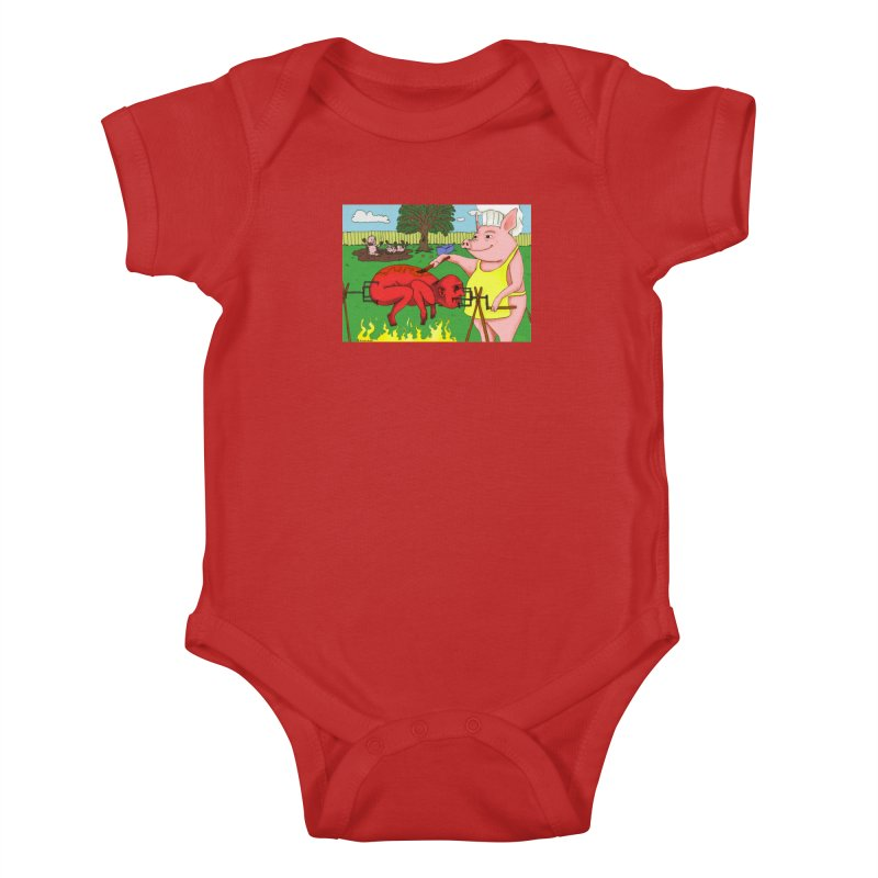 Pig Roast Kids Baby Bodysuit by Baked Goods