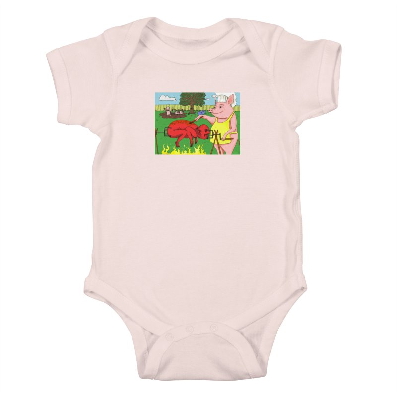 Pig Roast Kids Baby Bodysuit by Baked Goods