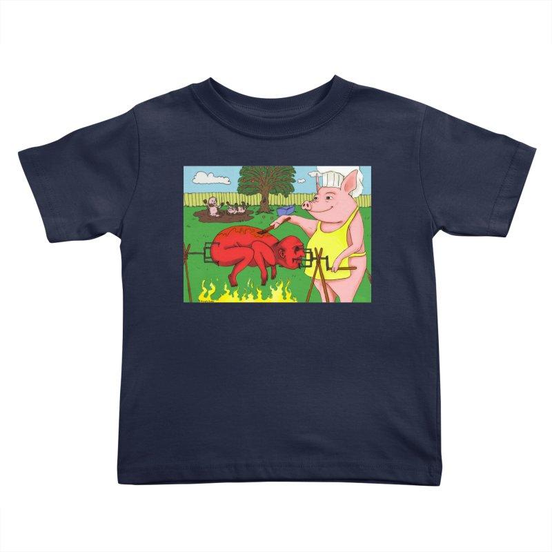 Pig Roast Kids Toddler T-Shirt by Baked Goods