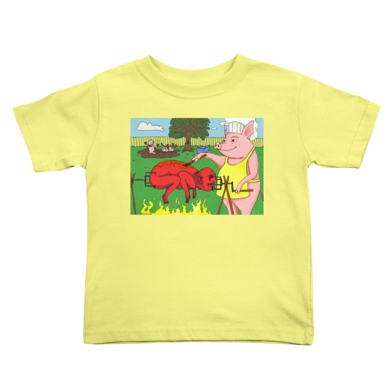 Pig Roast Kids Toddler T-Shirt by Baked Goods