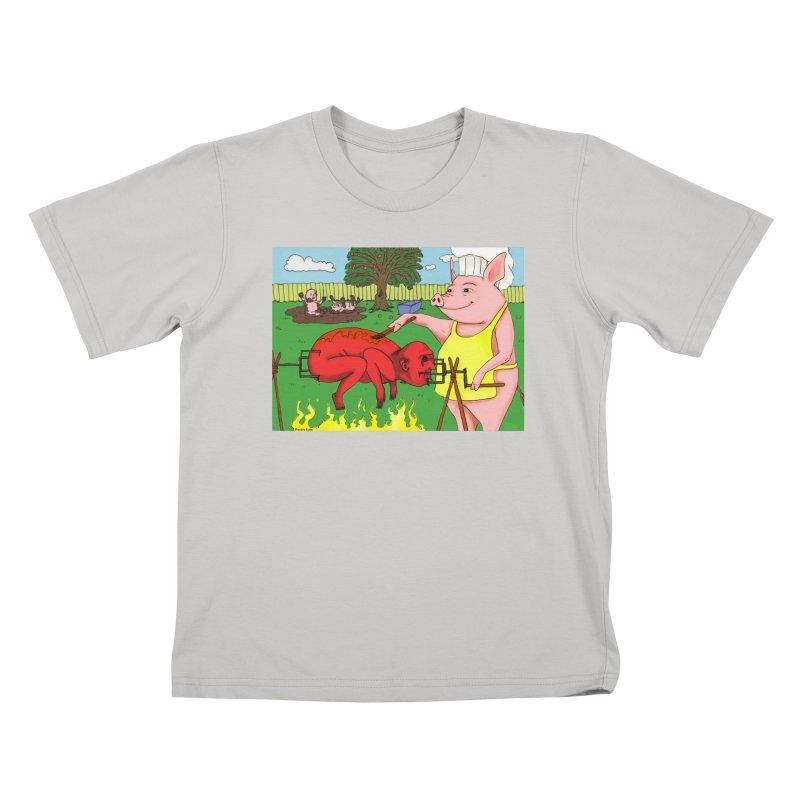 Pig Roast Kids T-Shirt by Baked Goods