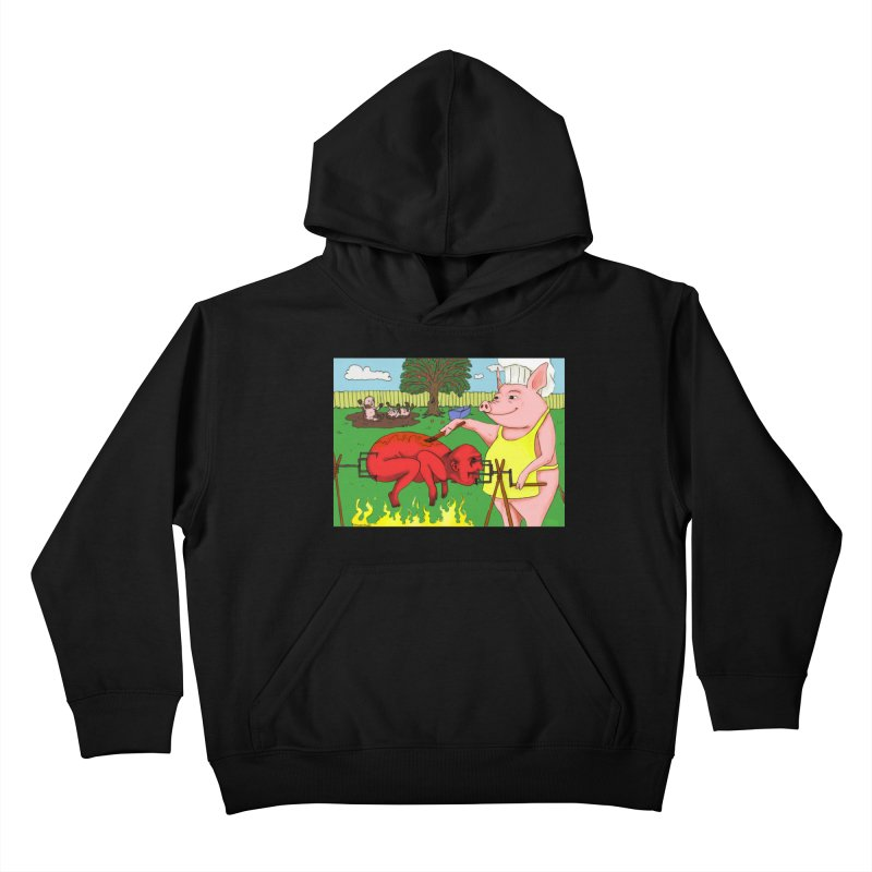 Pig Roast Kids Pullover Hoody by Baked Goods