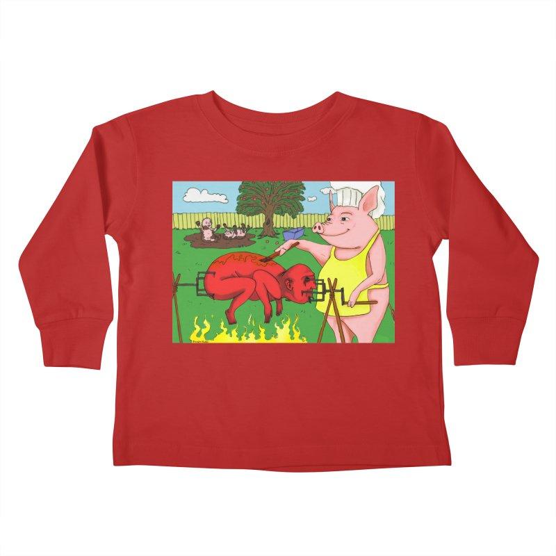 Pig Roast Kids Toddler Longsleeve T-Shirt by Brandon's Artist Shop
