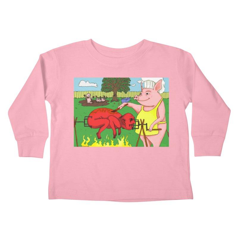 Pig Roast Kids Toddler Longsleeve T-Shirt by Baked Goods