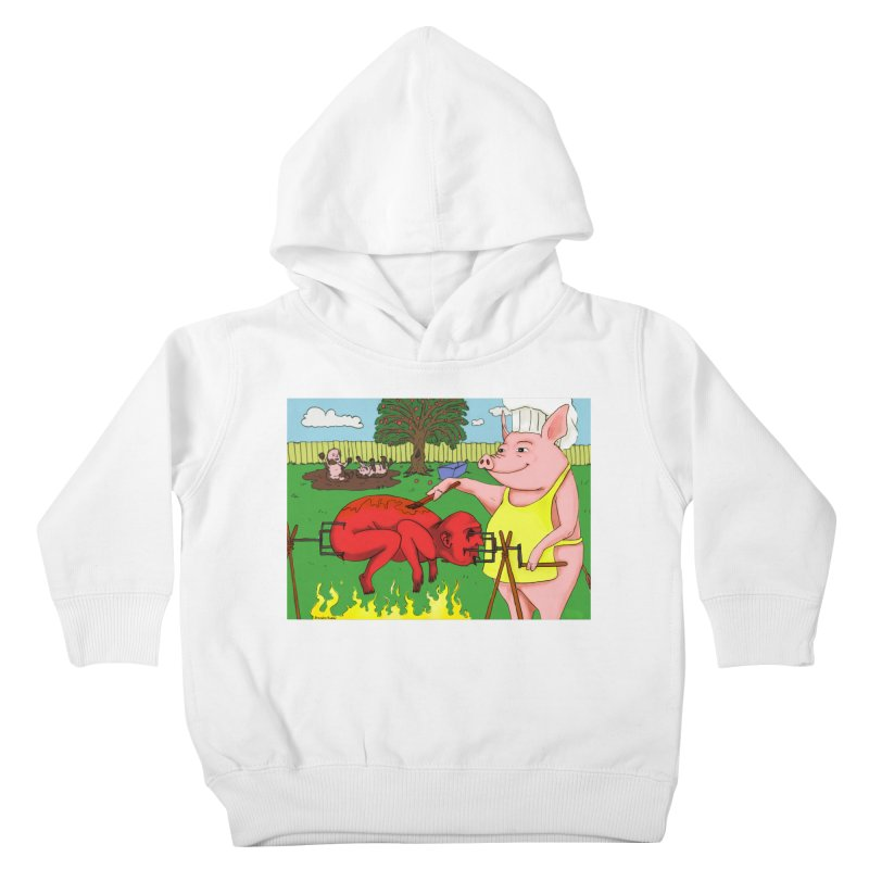 Pig Roast Kids Toddler Pullover Hoody by Baked Goods