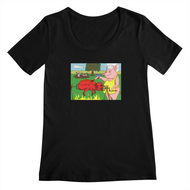 Pig Roast Women's Scoopneck by Baked Goods