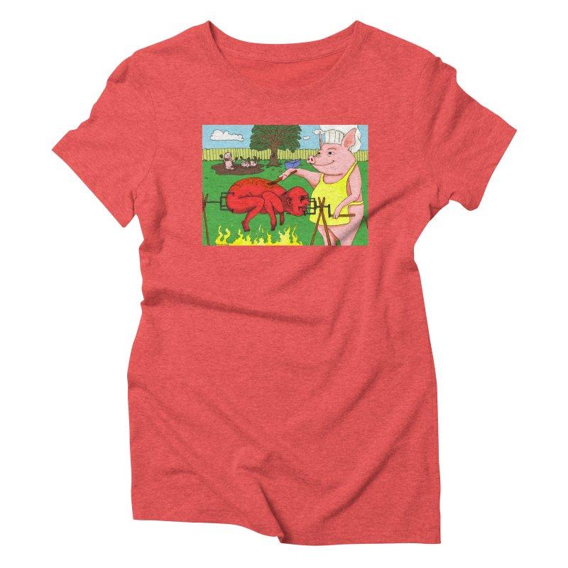 Pig Roast Women's Triblend T-Shirt by Baked Goods