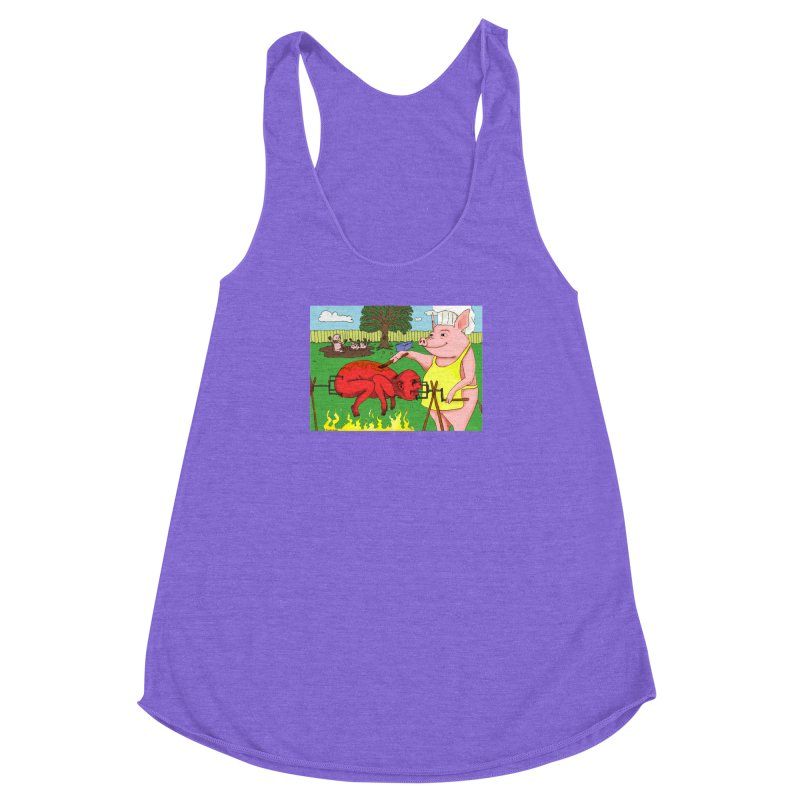 Pig Roast Women's Racerback Triblend Tank by Baked Goods