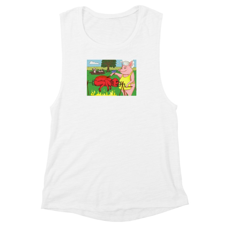 Pig Roast Women's Muscle Tank by Baked Goods