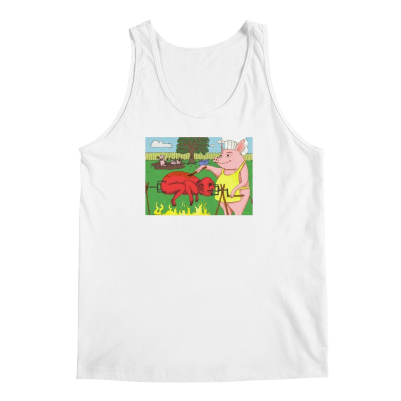 Pig Roast Men's Tank by Brandon's Artist Shop