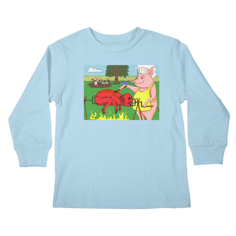 Pig Roast Kids Longsleeve T-Shirt by Baked Goods