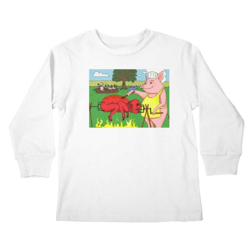 Pig Roast Kids Longsleeve T-Shirt by Baked Goods