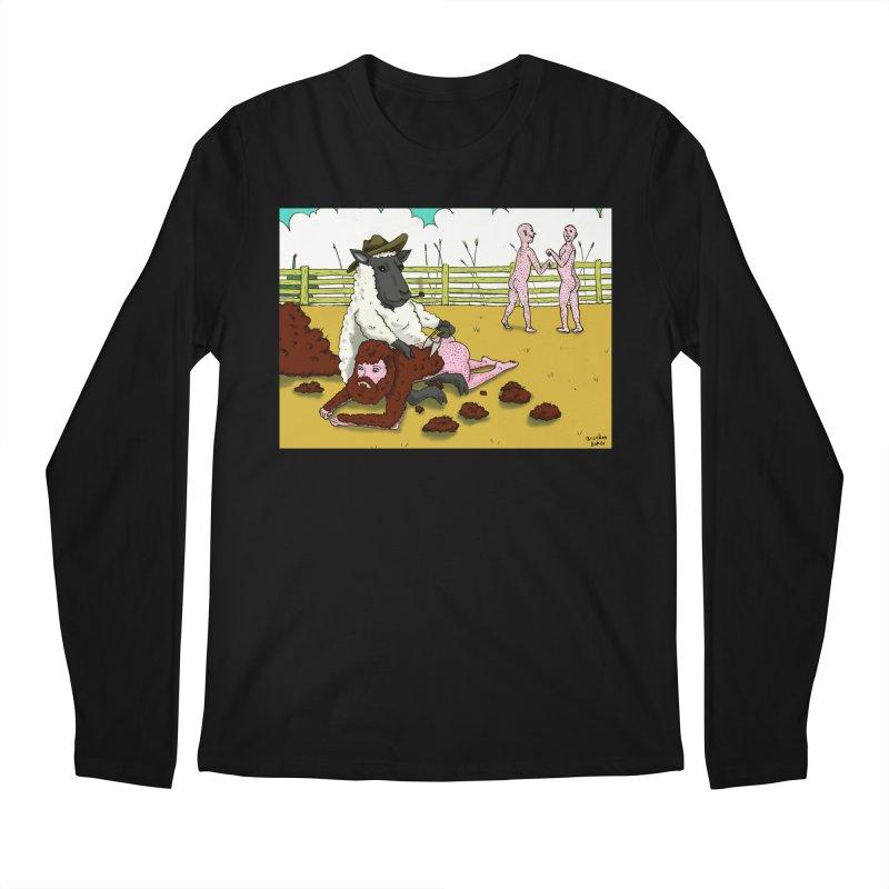 Sheering Sheep Men's Longsleeve T-Shirt by Baked Goods