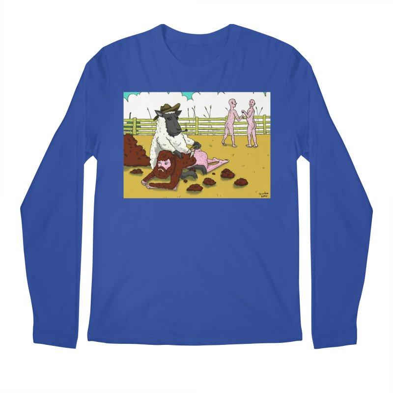 Sheering Sheep Men's Longsleeve T-Shirt by Baked Goods