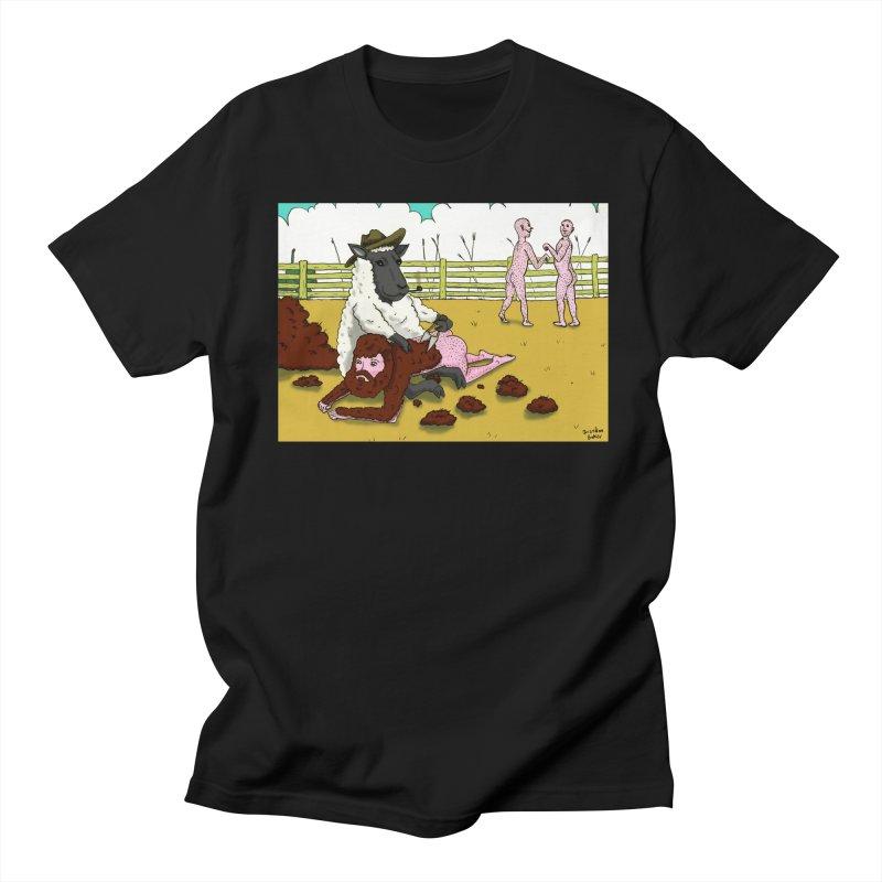 Sheering Sheep Men's T-shirt by Brandon's Artist Shop
