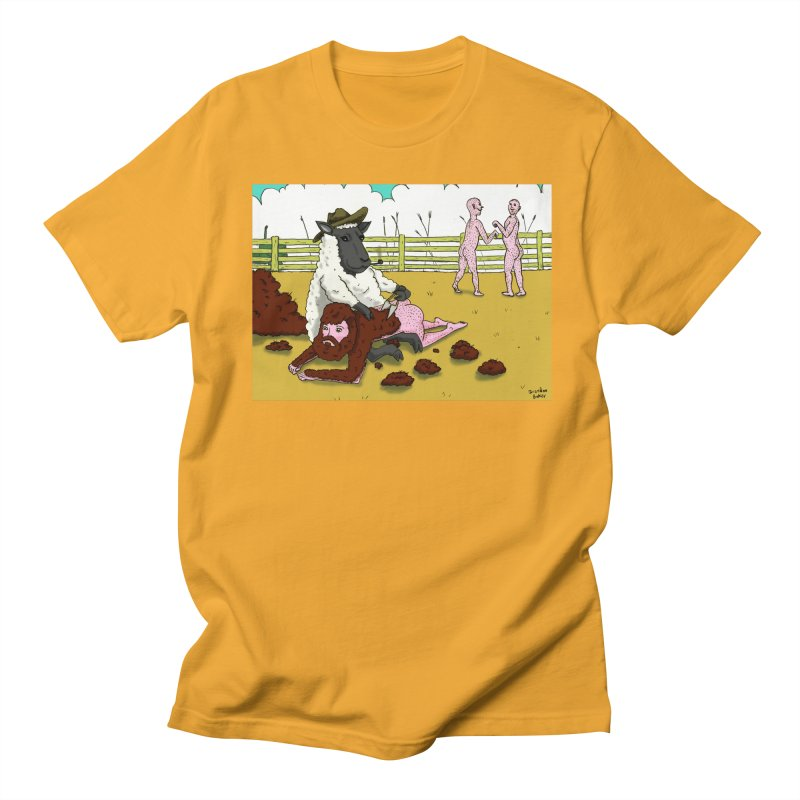 Sheering Sheep Men's T-Shirt by Baked Goods