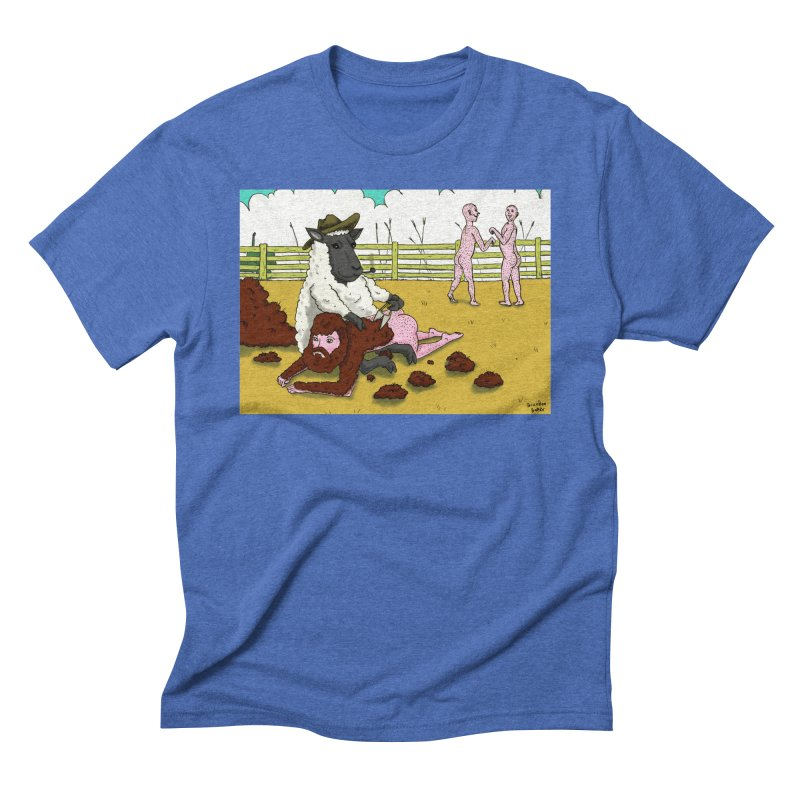 Sheering Sheep Men's Triblend T-shirt by Baked Goods