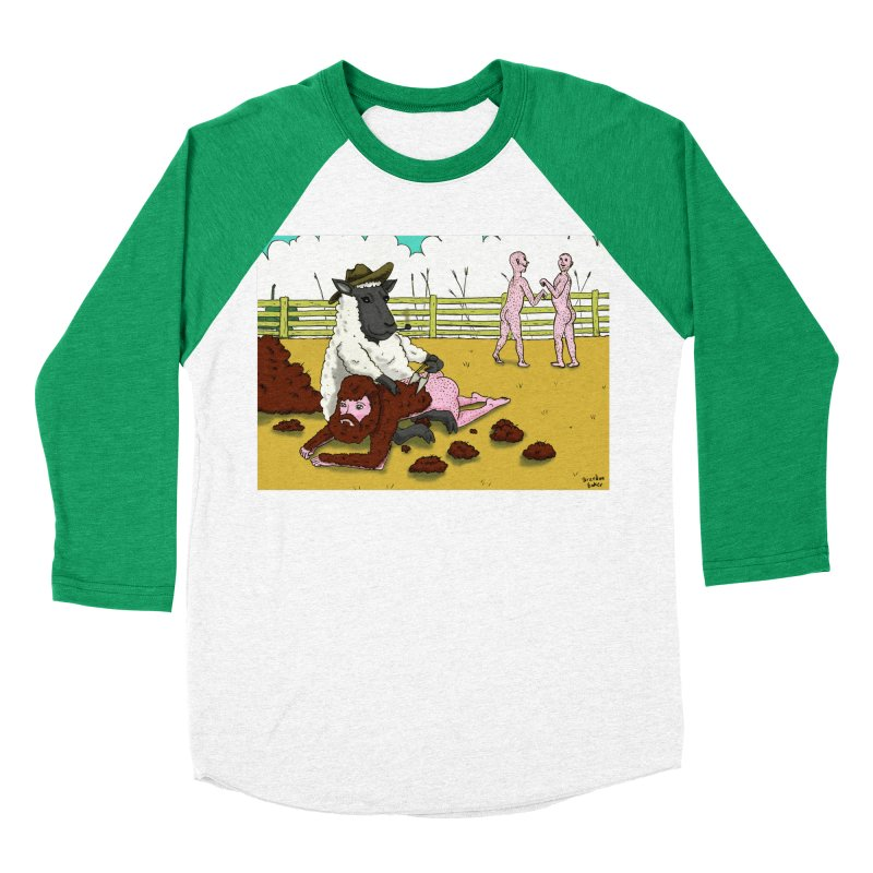 Sheering Sheep Women's Baseball Triblend T-Shirt by Baked Goods