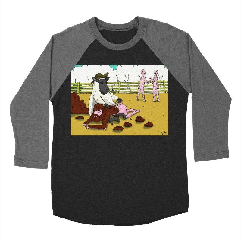 Sheering Sheep Men's Baseball Triblend T-Shirt by Brandon's Artist Shop