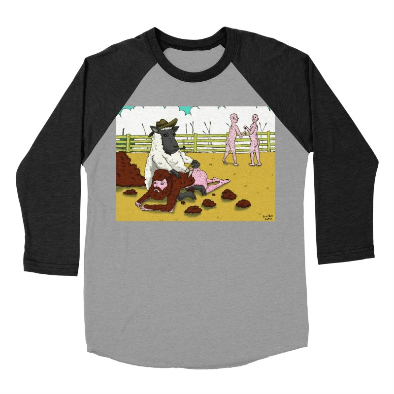 Sheering Sheep Men's Baseball Triblend T-Shirt by Baked Goods