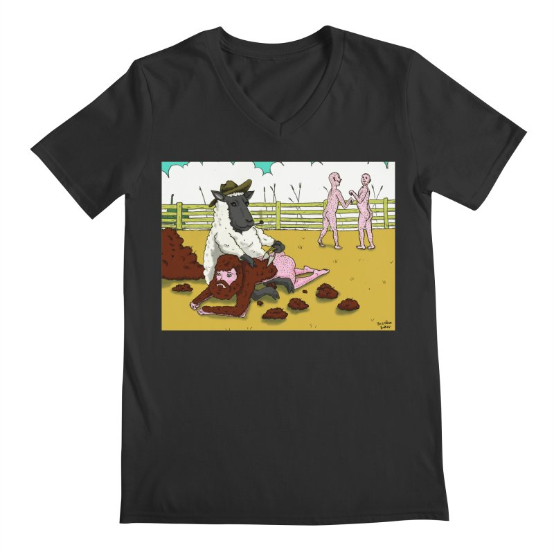 Sheering Sheep Men's V-Neck by Baked Goods