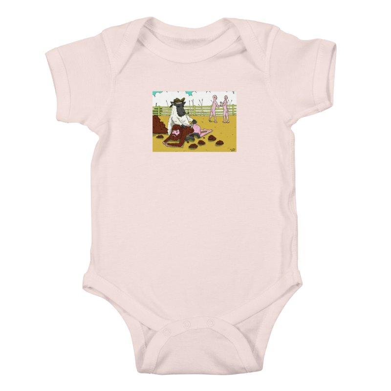 Sheering Sheep Kids Baby Bodysuit by Baked Goods