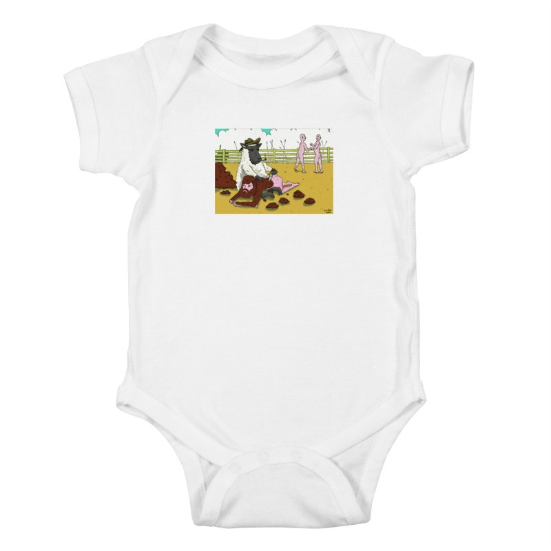 Sheering Sheep Kids Baby Bodysuit by Baked Goods
