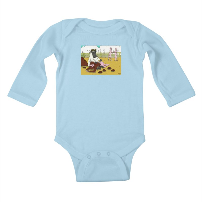 Sheering Sheep Kids Baby Longsleeve Bodysuit by Baked Goods