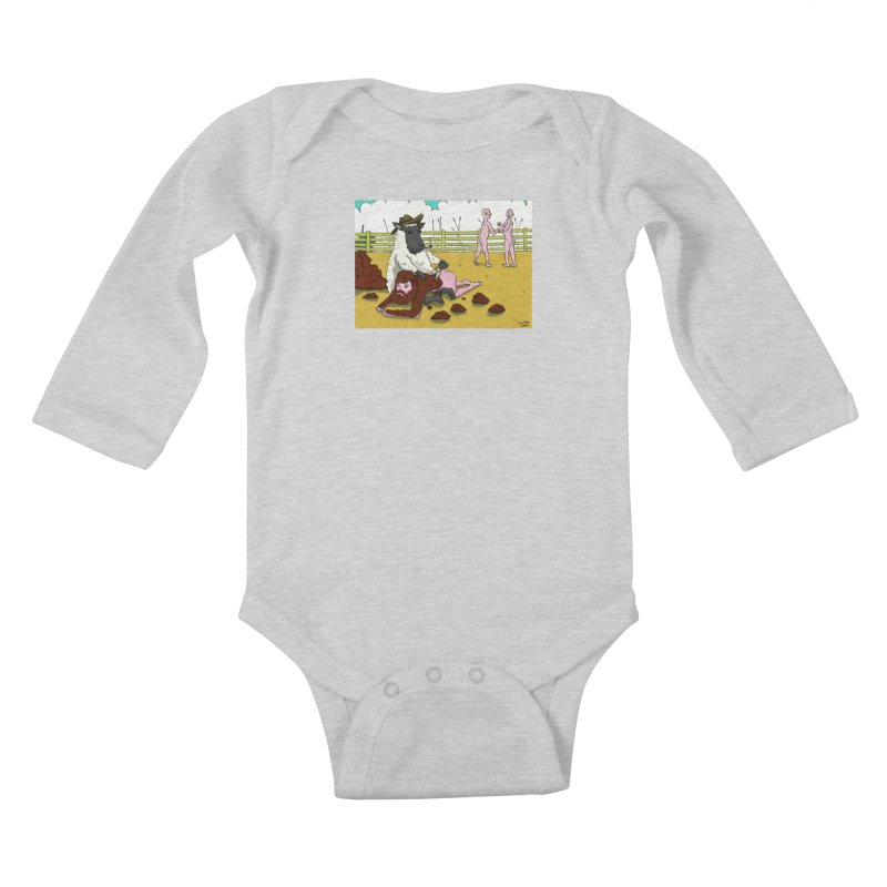 Sheering Sheep Kids Baby Longsleeve Bodysuit by Baked Goods