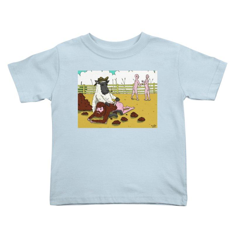 Sheering Sheep Kids Toddler T-Shirt by Baked Goods