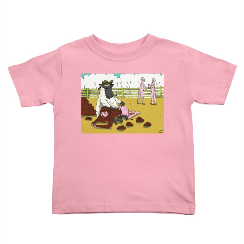Sheering Sheep Kids Toddler T-Shirt by Baked Goods