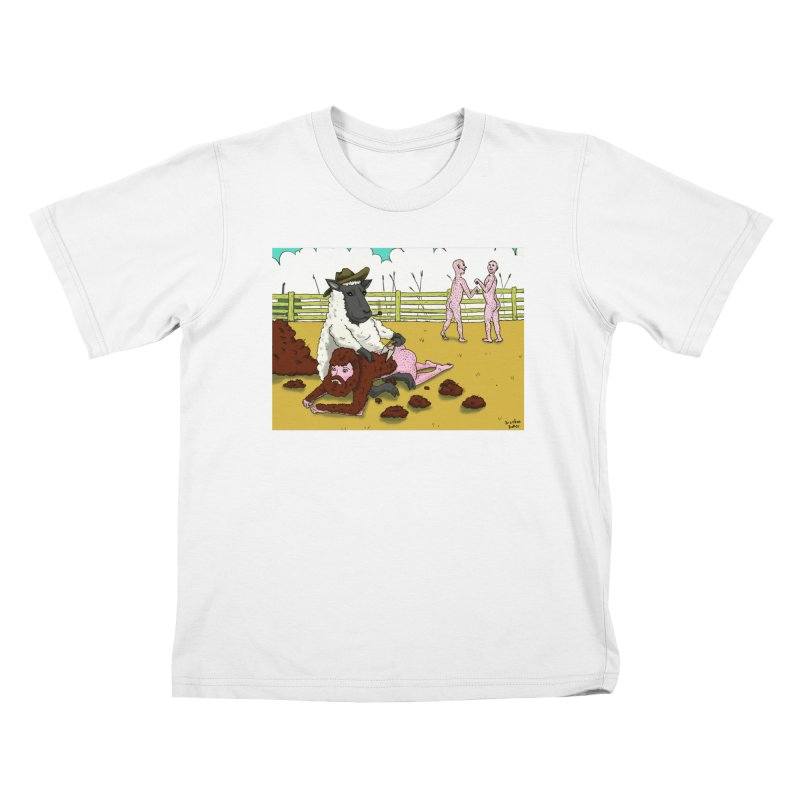 Sheering Sheep Kids T-Shirt by Baked Goods