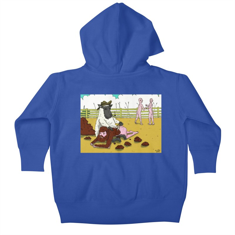 Sheering Sheep Kids Baby Zip-Up Hoody by Baked Goods