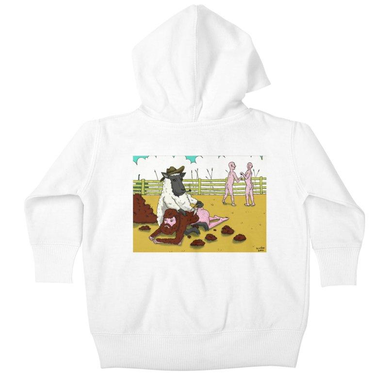 Sheering Sheep Kids Baby Zip-Up Hoody by Brandon's Artist Shop
