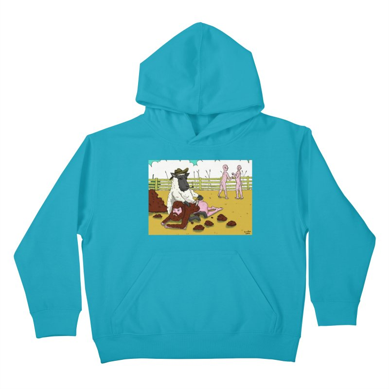 Sheering Sheep Kids Pullover Hoody by Baked Goods
