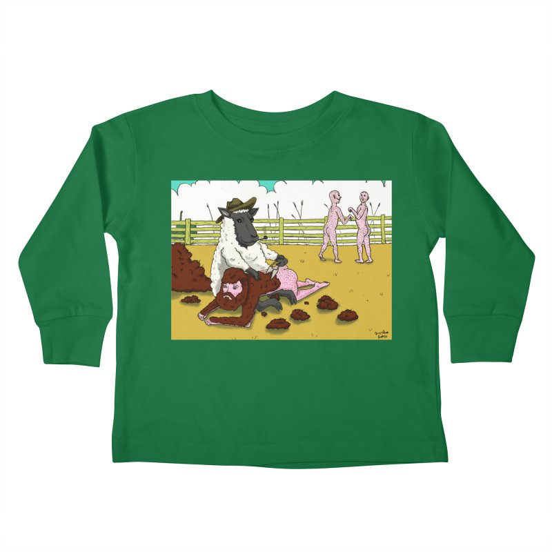 Sheering Sheep Kids Toddler Longsleeve T-Shirt by Baked Goods
